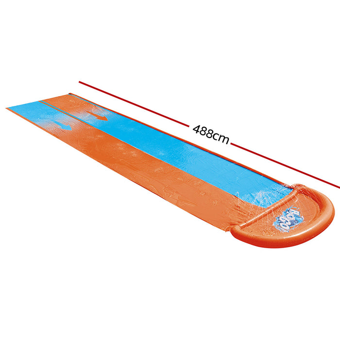 Bestway 4.8M Inflatable Double Water Slip and Slide | Blue/Red/Orange