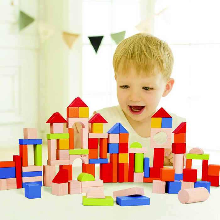 Classic World Deluxe 100pc Counting & Building Block set | Multi Colour