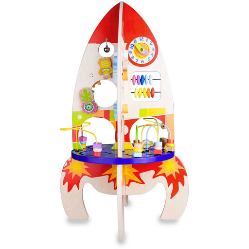 Classic World Multi Activity Rocket Wooden Play Table Set | Multi Colour