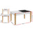 Norway Kids Table and Chair Storage Desk | White/Natural