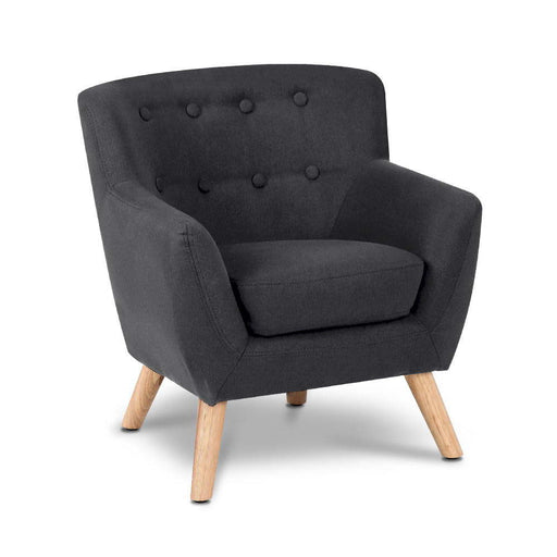 Norway Kids Fabric Armchair | Muted Black
