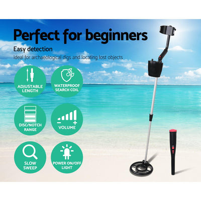 Eureka 180mm Sensitivity Metal Detector with Pinpointer | Black