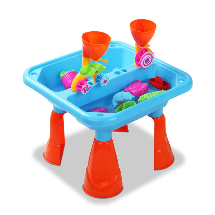 Sunny Days 23 Piece Kids Sand & Water Play Table Set | Multi Color