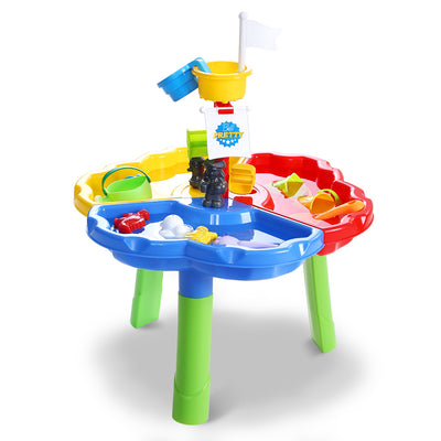 Sunny Days Kids Sand & Water Play Table Set | Multi Color