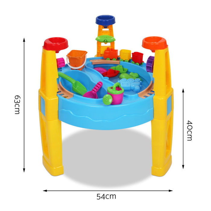 Sunny Days 26 Piece Kids Water & Sand Play Set with Umbrella | Multi Color