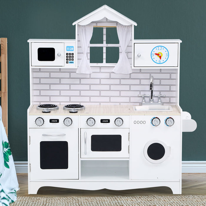 Little Chef Kids Kitchen Play Set | White