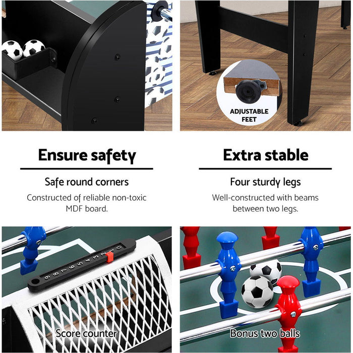 4ft Soccer Foosball Football Game Table | Black