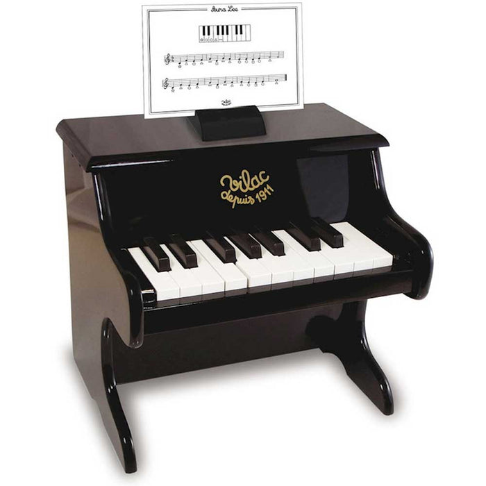 Vilac 18 Key Kids Toy Piano Keyboard | Black