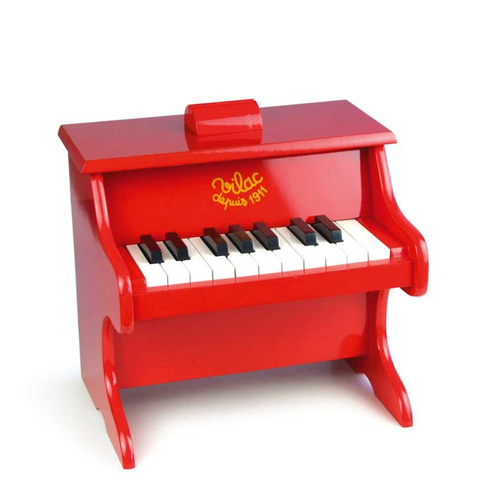 Vilac 18 Key Kids Toy Piano Keyboard | Red