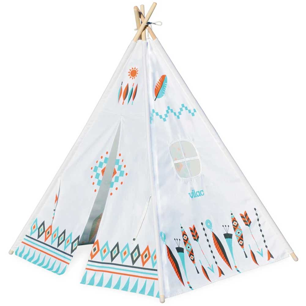 Vilac Giant Kids Canvas Teepee | Multi Colour