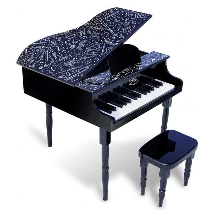 Vilac Kids Grand Piano with Stool | Black