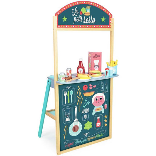 Vilac Little French Restaurant Wooden Play Set | Natural/Green