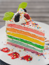 Load image into Gallery viewer, Rainbow Birthday Cake