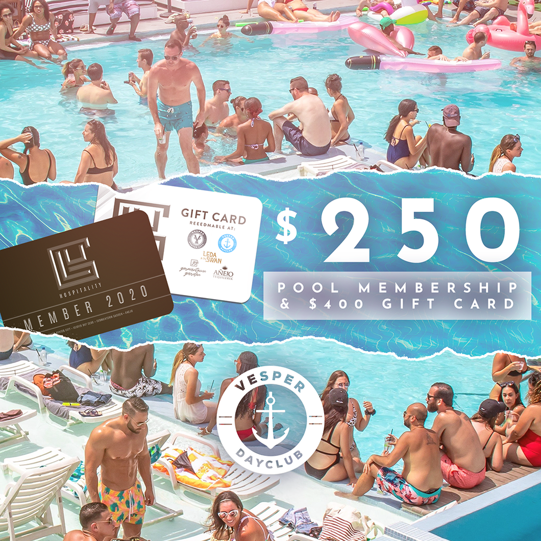 $250 - 2020 Pool Membership & $400 Gift card
