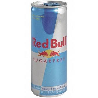 Sugar Free Red Bull Can