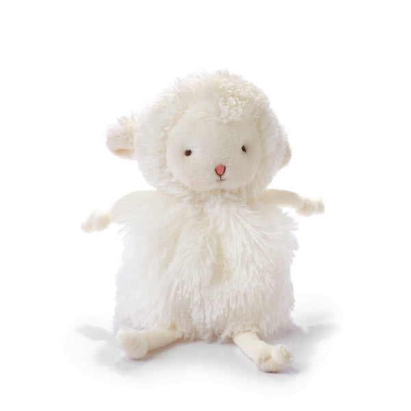 "Roly Poly Kiddo White Lamb 5"" Plush"