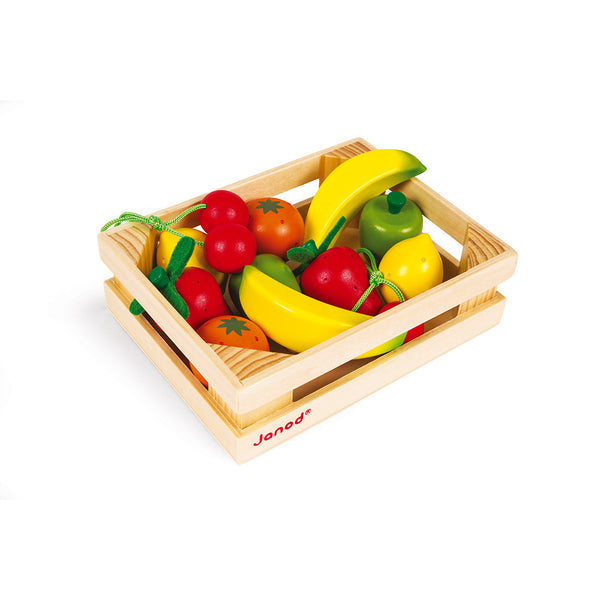 Wood Fruit in Crate