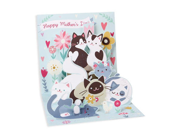 Mother's Day Kitties Pop-up greeting Card