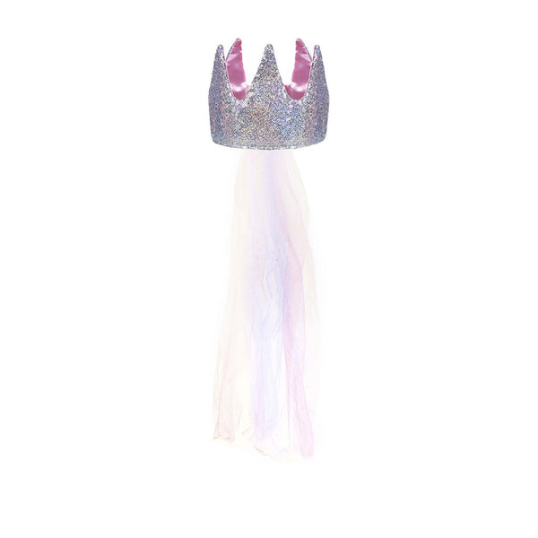 Sequin Crown with Veil