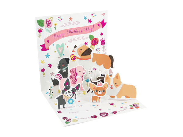Mother's Day Puppies Pop-up Greeting Card