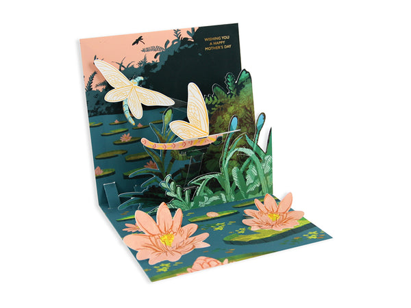 Midnight Dragonflies Pop-up Greeting Card