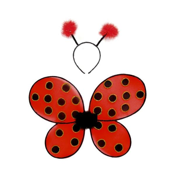 Ladybug Wings & Headband Set