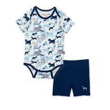 Best In Show Dog Organic Cotton Magnetic Bodysuit & Short Set