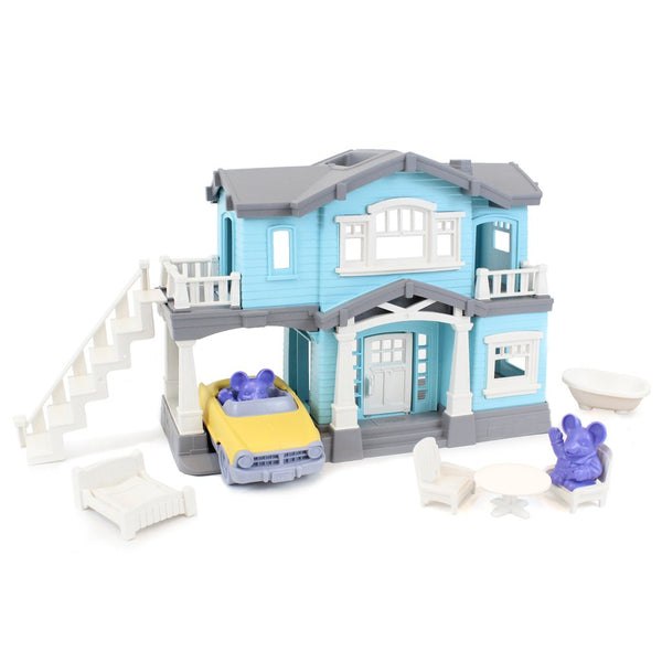 Blue Recycled Plastic House Playset