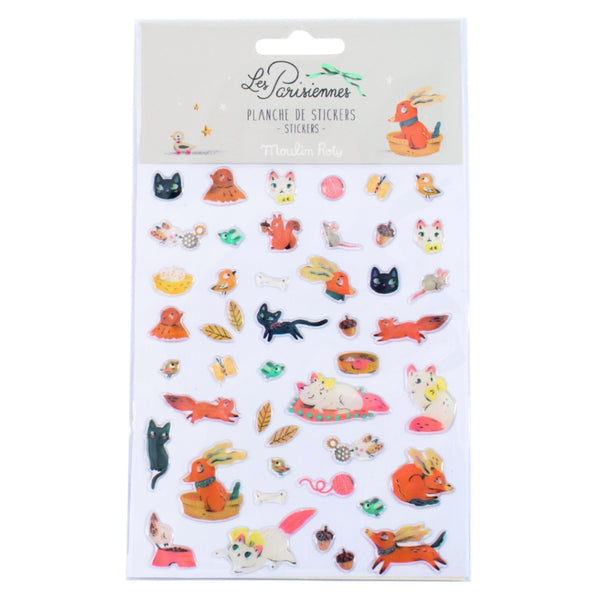 Les Parisiennes Animal Stickers
