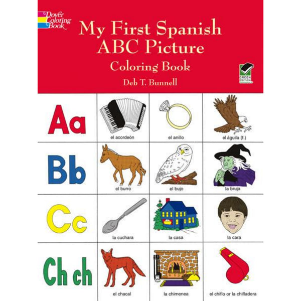 My First Spanish ABC Coloring Book