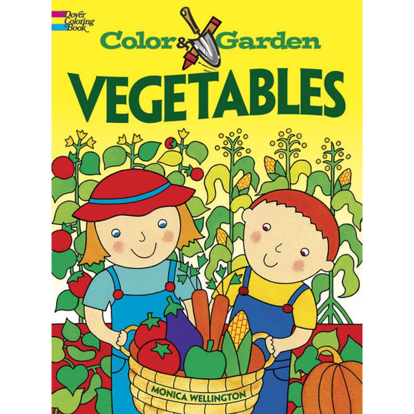 Color & Garden Vegetables Coloring Book