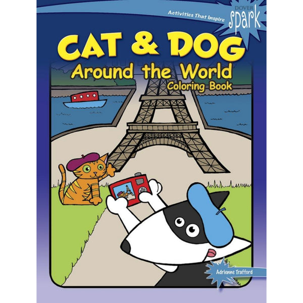Cat & Dog Around the World Coloring Book