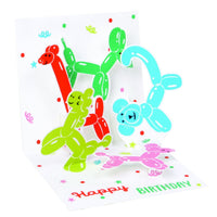 Balloon Animals Mini Pop-Up Card