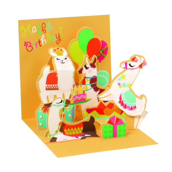 Little Llamas Mini Pop-Up Card