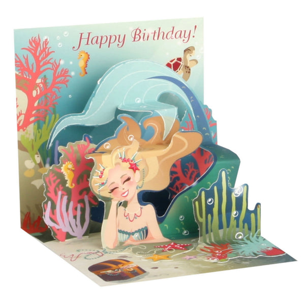 Mermaid Mini Pop-Up Card