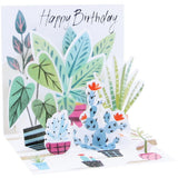 Potted Plants Mini Pop-Up Card