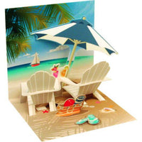 Tropical Beach Chair Mini Pop-Up Card