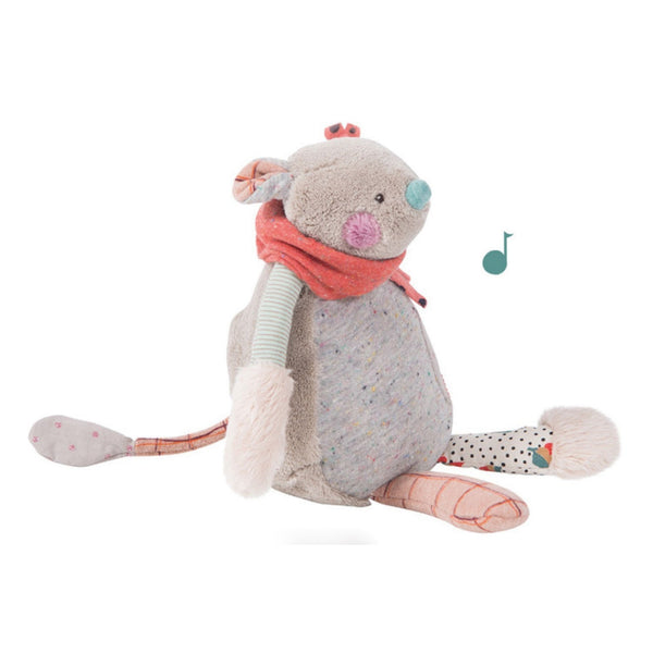 "Patchwork Mouse 12"" Musical Soft Toy"