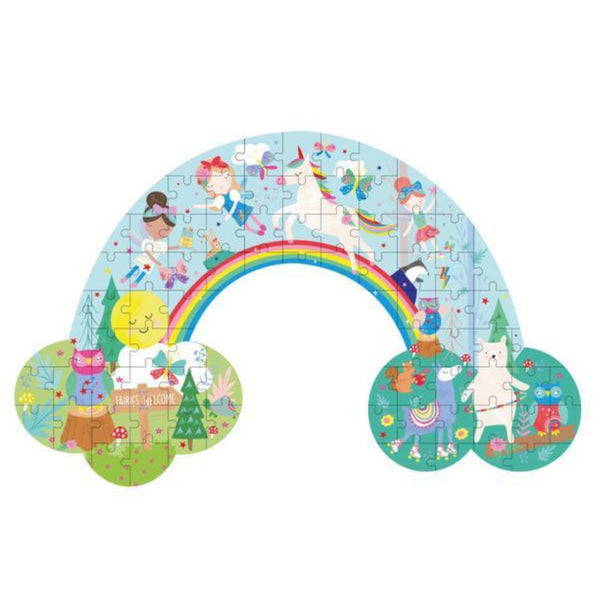 Rainbow Fairy Rainbow Shaped 80 Piece Puzzle