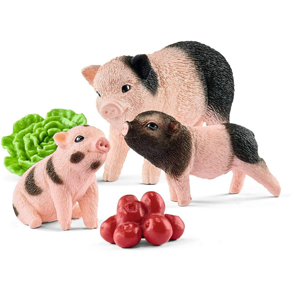 Miniature Pig Mother and Piglets Figure Set