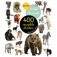 Wild Animals Eyelike Reusable Stickers