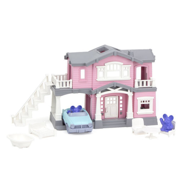 Recycled Plastic House Playset Pink