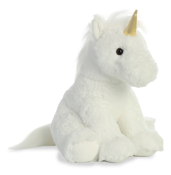 "White Unicorn 14"" Plush"