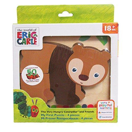 Brown Bear 4 Piece Wooden Puzzle