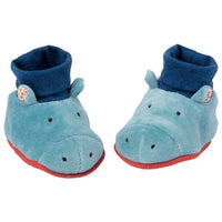 Hippo Les Papoum Baby Slippers