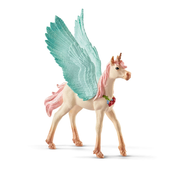 "Decorated Unicorn Pegasus Foal 6"" Figure"