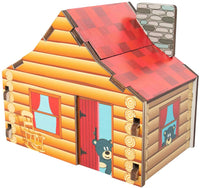 Cabin Build It Blueprint Puzzle