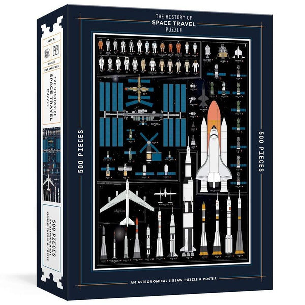 The History of Space Travel 500 Piece Puzzle