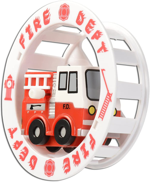 Fire Engine Wind-Up Wheely Fun Roller