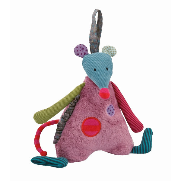 "Patchwork Mouse 11"" Musical Plush"